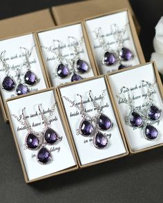 Bridesmaid Wedding Bridal Jewelry Bridesmaid by thefabwedding2, $29.99 (I love the purple if we are thinking jewelry)
