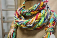 Braided Scarf by Textures on Etsy