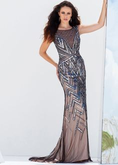 Tony Bowls Evenings TBE11555 Beaded Evening Gown