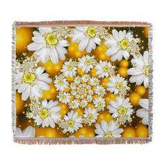Fractal Daisy Glow Spiral. Woven Blanket> Fractal Daisy's Glow Spiral> Rosemariesw Digital Designs