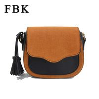 f2cf746e84b8 Brand New 2016 Fashion Vintage Tassel Panelled Women Messenger Bags  Crossbody Bag Lady Shoulder Matte saddle