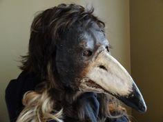Plague Doctor Mask Paper mache mask Crow mask by MiesmesaBerni Raven Mask, Crow Mask, Raven Costume, Bird Costume, Tree Costume, Plague Mask, Plague Doctor Mask, Mask Cat, Mascara Papel Mache