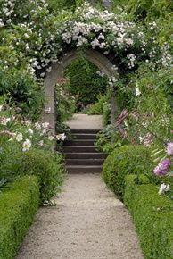 stairs with door, Hanham Court Gardens, uncredited