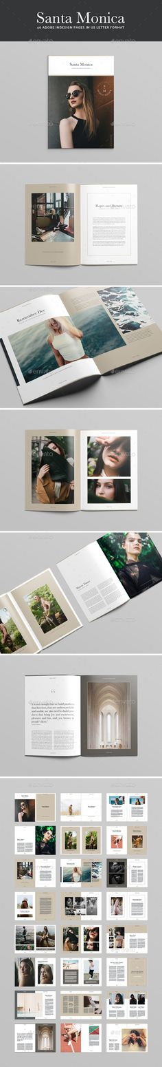 Santa Monica #Magazine Template - #Magazines #Print Templates Download here: https://graphicriver.net/item/santa-monica-magazine-template/20456396?ref=alena994