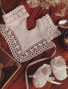 PDF Vintage Crochet Pattern to make Baby a Superb Bib and Bootees in 2 sizes months and 3 - 6 months Crochet Baby Bonnet, Crochet Baby Cardigan, Baby Cardigan Knitting Pattern, Baby Knitting Patterns, Vintage Crochet Patterns, Vintage Knitting, Bib Pattern, Free Pattern, Baby Bibs Patterns