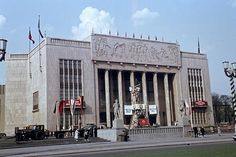 German Athletic Hall: The Stalinallee (later renamed Karl-Marx Allee) on the...