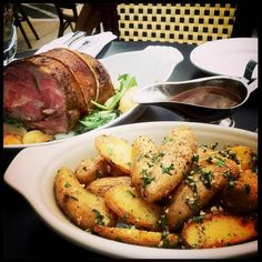 @michaelpetres: Slow roasted lamb for 2@brasserieSTL w/ turnips, cippolinis, fingerling potatoes, minted lamb jus