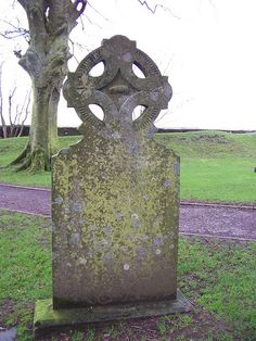 Tombstone on Hill of Tara, Ireland