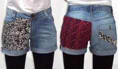 costumized denim shorts
