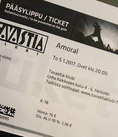 Tonight - rock'n roll by heavyrock - Amoral's farewell gig in @tavastiaklubi  @amoralweb #keikka #gig #heavymusic #heavyrock #heavymetal #farewells #rock'nroll #alleillekyytiä #lifestyleblogger #nelkytplusblogit #åblogit