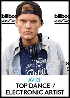 Top Dance/Electronic Artist   BBMA Finalists 2014 #Avicii #LadyGaga #CalvinHarris #DaftPunk #Zedd #BBMAs #GIFs