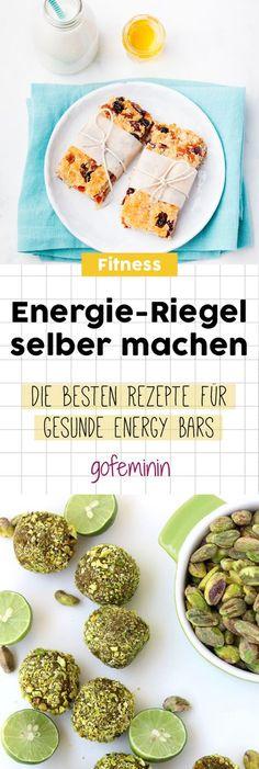 Energy Bars und Raw Bites: So machst du die leckeren und gesunden Energie Riegel selber!