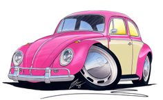 poster pink volkswagen | flat,800x800,070,f.jpg