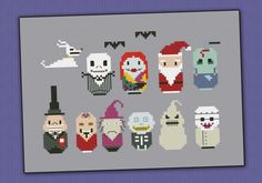 The Nightmare Before Christmas - Mini People - Cross Stitch Patterns - Products