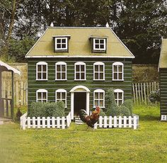 If I have to have chickens....shouldn't their house look like this?