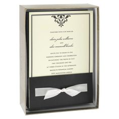 ribbon tied themed wedding invitations 25 count - Target Wedding Invitations