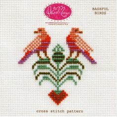 Don't be bashful! This cross stitch pattern includes both a color coded chart and a symbol coded chart. The pattern also includes helpful getting started tips for cross stitch as well as recommendatio