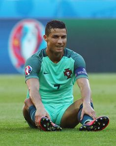 #EURO2016 Cristiano Ronaldo of Portugal reacts during the UEFA EURO 2016 Group F match between Hungary and Portugal at Stade des Lumieres on June 22 2016 in...