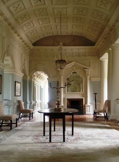 Bibiena family are inspired by the room seen here today, the double height entrance hall at Gloster, County Offaly.