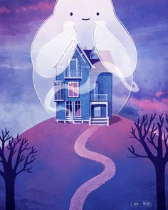 Haunted house I like the idea that because ghosts don't have a material form they can change their size at will. They can either choose…