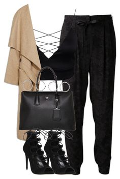 """Untitled #3944"" by london-wanderlust ❤ liked on Polyvore featuring TIBI, Prada, Office and Boohoo"