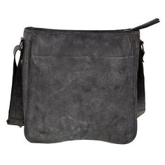 Leather shoulder bag, 'Dark Grey Freedom' - Dark Grey Leather Artisan Crafted Shoulder Bag from Mexico (image 2d)