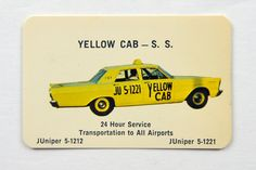 Hey, I found this really awesome Etsy listing at https://www.etsy.com/listing/125994540/yellow-cab-pocket-calendar-19681969-taxi