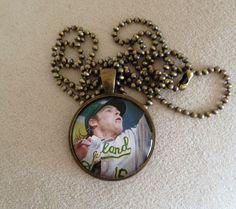 Oakland Athletics Josh Reddick Necklace by QUEENBEADER on Etsy, $16.25