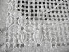 Dish Towels, Hardanger Embroidery, Dots, Places