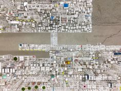 """JapaneseartistKatsumi Hayakawa's """"Paperworks"""" exhibition explores the impression of architectural densitythrough d..."""