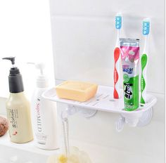 Cheap rack car, Buy Quality rack metal directly from China rack mount pc case Suppliers:  Free Shiping Suction Cup Wall Mounted Soap Holder And Toothbrush Rack With Soap Dish Dispenser And Toothbrush Holder Ba