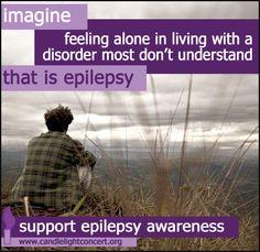 November is Epilepsy Awareness Month Temporal Lobe Epilepsy, Epilepsy Seizure, Epilepsy Awareness, Epilepsy Quotes, Epilepsy Facts, Seizure Disorder, Seizures, Brain Injury, Feeling Alone