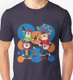 Happy evil clowns Unisex T-Shirt Evil Clowns, Unisex, Halloween, Happy, Mens Tops, T Shirt, Shopping, Design, Fashion