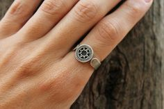 Bellatrix sterling silver or brass ring by CATBLACKJEWELRY on Etsy