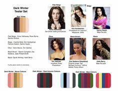 Dark Winter Skin Tones & Colours