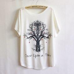 Women loose  thin shirt tree print on Etsy, $12.99