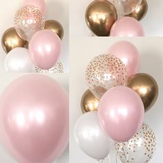 Pink Blush Balloons Baby Shower Wedding Birthday Pink Blush Gold by HullaballoonsParty on Ets. Pink Blush Balloons Baby Shower Wedding Birthday Pink Blush Gold by HullaballoonsParty on Etsy, shower ideas for a girl Fiesta Baby Shower, Baby Girl Shower Themes, Girl Baby Shower Decorations, Baby Shower Parties, Baby Shower Pink, Pink Party Decorations, Baby Shower For Girls, Baby Shower Sweets, Girl Christening Decorations