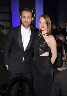 Ryan Gosling and Emma Stone attend the 22nd Annual Critics' Choice Awards.
