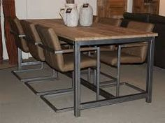 Image result for eettafel industrieel
