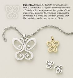 Religious Butterfly Designs from James Avery Jewelry
