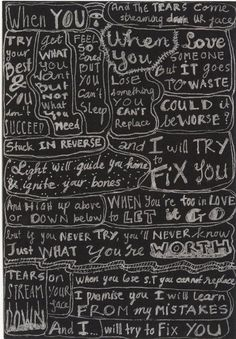 Fix You by Coldplay. my favorite song! Coldplay Fix You, Fix You Lyrics, Coldplay Band, Coldplay Lyrics, Music Lyrics, Lyric Art, Frases Coldplay, Beautiful World Lyrics, Sayings