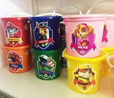Paw Patrol party buckets