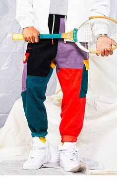 Women Pants Color Block Patchwork Corduroy Pant Cargo Harem Pant Streetwear - Men's style, accessories, mens fashion trends 2020 Harem Sweatpants, Cotton Harem Pants, Corduroy Pants, Camo Joggers Mens, Cargo Pants Men, Colored Pants, Fashion Pants, Male Fashion, Boho Fashion