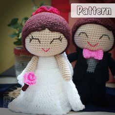 Joe & Shannon Wedding Dolls Pattern