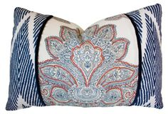 Lotus 16x24 Cotton Pillow, Multi
