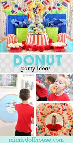 Donut Birthday Party: It's Doughnut Time! Donut Birthday Party: It's Doughnut Time! Want a fun birthday party idea that your kids are going to go nuts over? Throw a donut birthday party. It's easy and fun and delicious! Looking for donut party ideas? Dino Birthday, Donut Birthday Parties, Birthday Party Decorations, Birthday Ideas, Birthday Brunch, Birthday Games, Third Birthday, Donut Party, First Birthdays