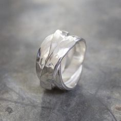 Jéh Jewels ring high-gloss silver with hammer - Jéh Jewels ring high-gloss silver with hammer -