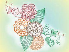 Resultado de imagen para dibujos de flores a color