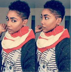 Beautiful Tapered TWA Curls, Try More Short Natural Styles Here: http://www.naturalhairmag.com/?s=TWA IG:@talaylayyy  #naturalhairmag #naturalhair