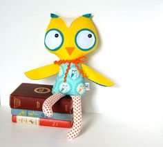 Oliver Owl Softie Stuffed Animal Doll for by FriendsOfSocktopus, $44.00